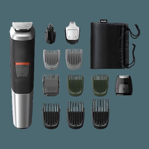 Philips Multigroom MG5740 szakállvágó mellékelt tartozékok