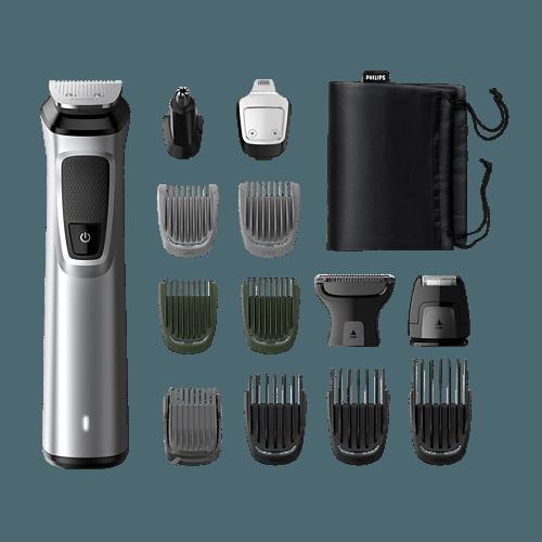 Philips Multigroom 7000 MG7720 multifunkciós szakállvágó mellékelt tartozékok