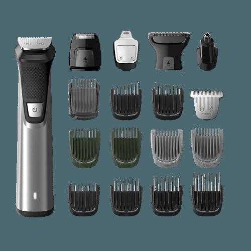 Philips Multigroom 7000 MG7770 multifunkciós szakállvágó mellékelt tartozékok